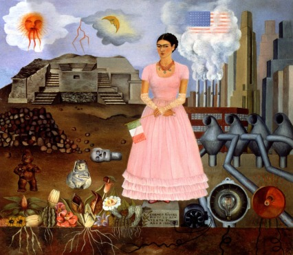 image-292Self-Portrait-on-Borderline-Frida-Kahlo